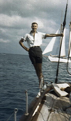 Chuck in 1961 on a Windjammer Cruise in the Bahamas!