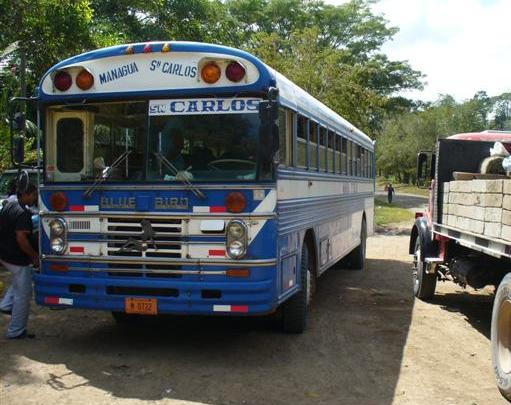 Bus to Managua from San Carlos